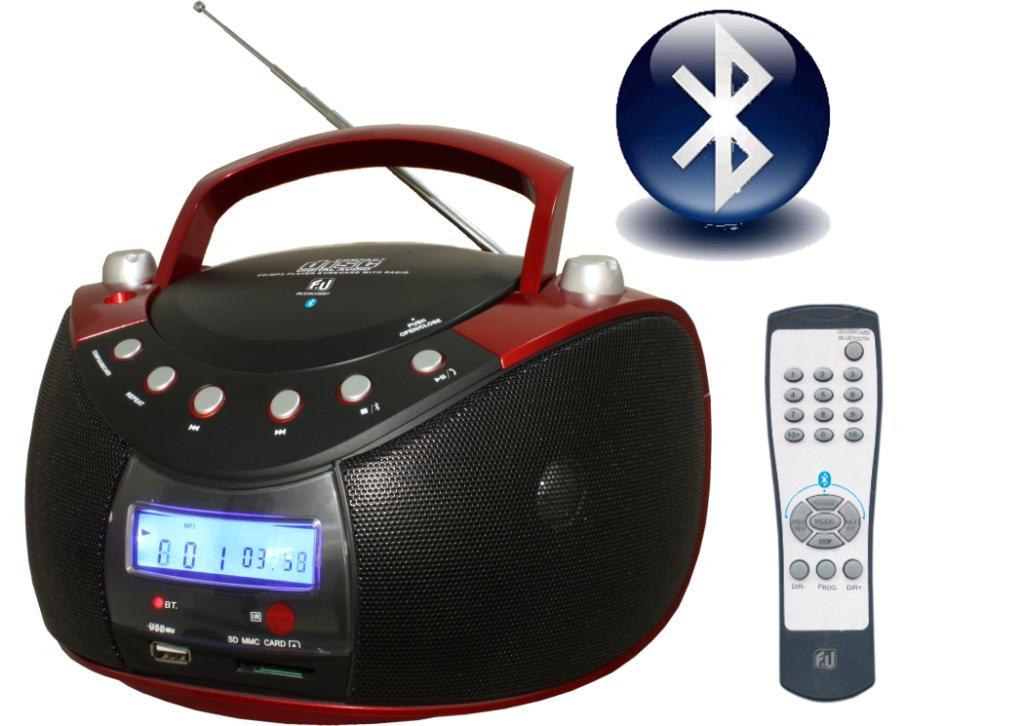 F&U RCD9038ΒΤ Φορητό Ραδιο-CD με Bluetooth/USB/Card Reader