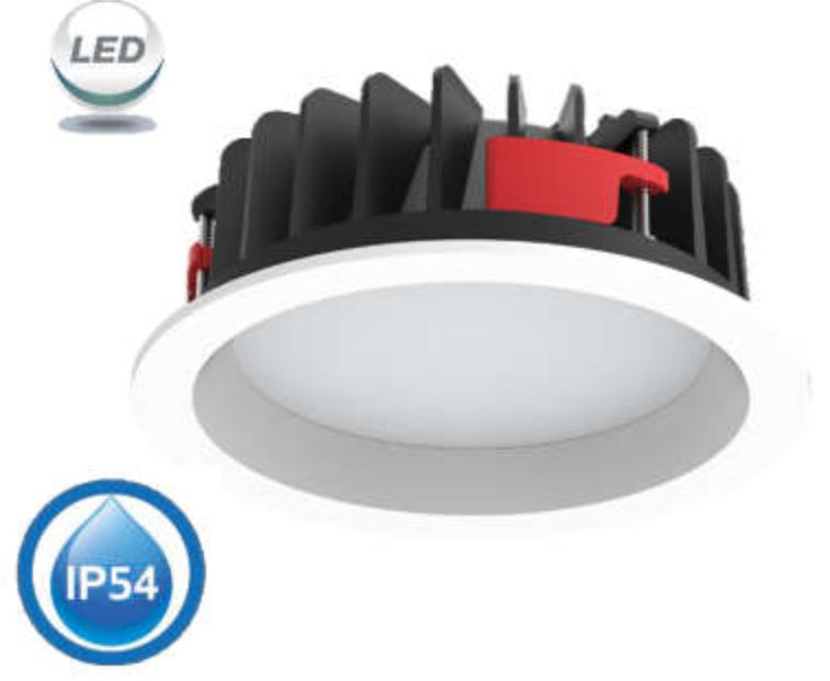 F&U L-D8354D LED DOWNLIGHT 8 ΙΝΤΣΩΝ DIMMABLE 35W