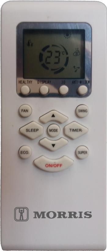 MORRIS WFIN-26110 ΚΛΙΜΑΤΙΣΤΙΚΟ WiFi INVERTER 9000BTU