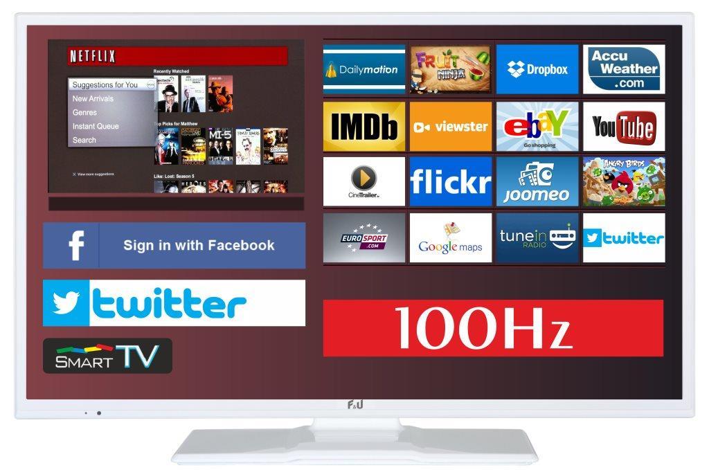 F&U FLS32798NWH SMART LED TV 32 ιντσών