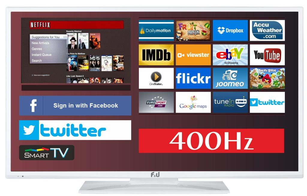 F&U FLS43798NWH SMART LED TV 43 ιντσών