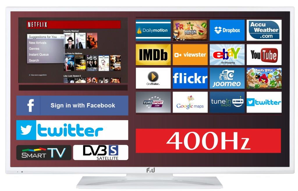 F&U FLS43799NSWH SMART LED TV 43 ιντσών