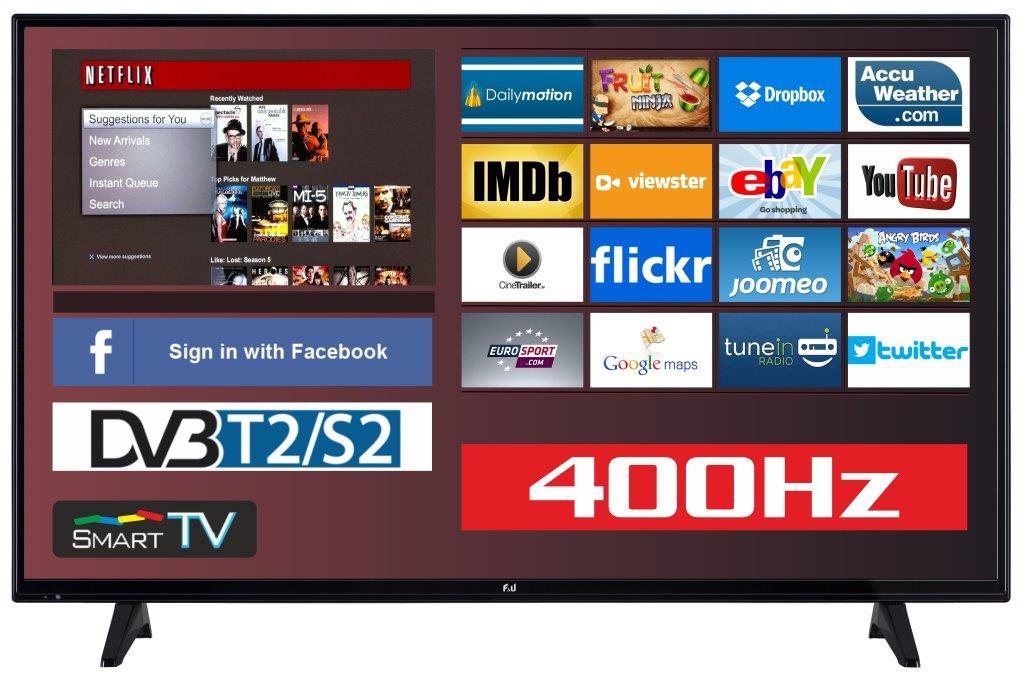 F&U FLS43201 Smart LED TV 43 ιντσών