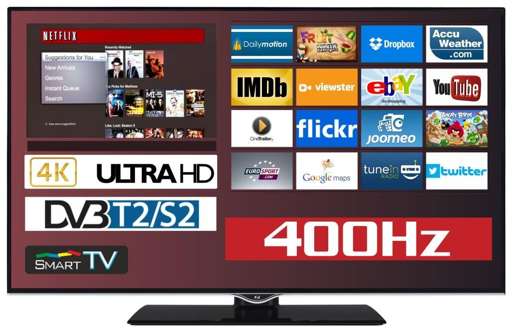 F&U FL2D4303UH 4K ULTRA HD Smart TV 43 ιντσών