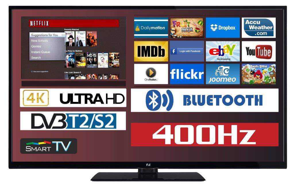 F&U FL2D4304UH 4K ULTRA HD Smart TV 43 ιντσών