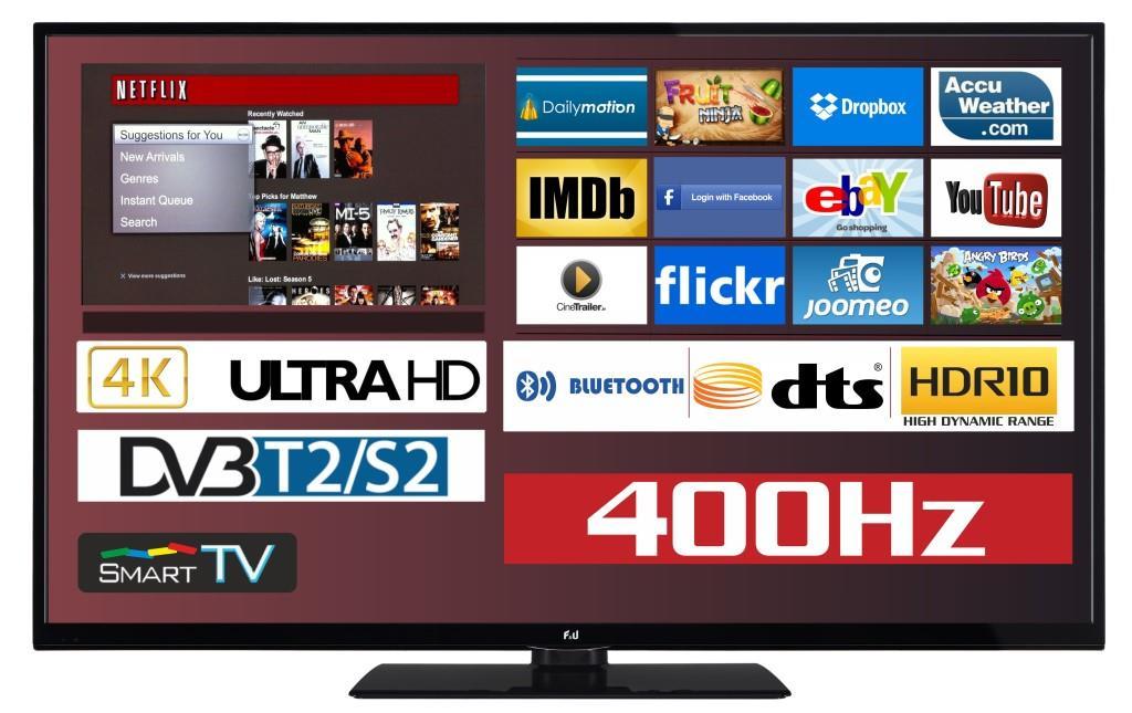 F&U FL2D4305UH 4K ULTRA HD Smart TV 43 ιντσών