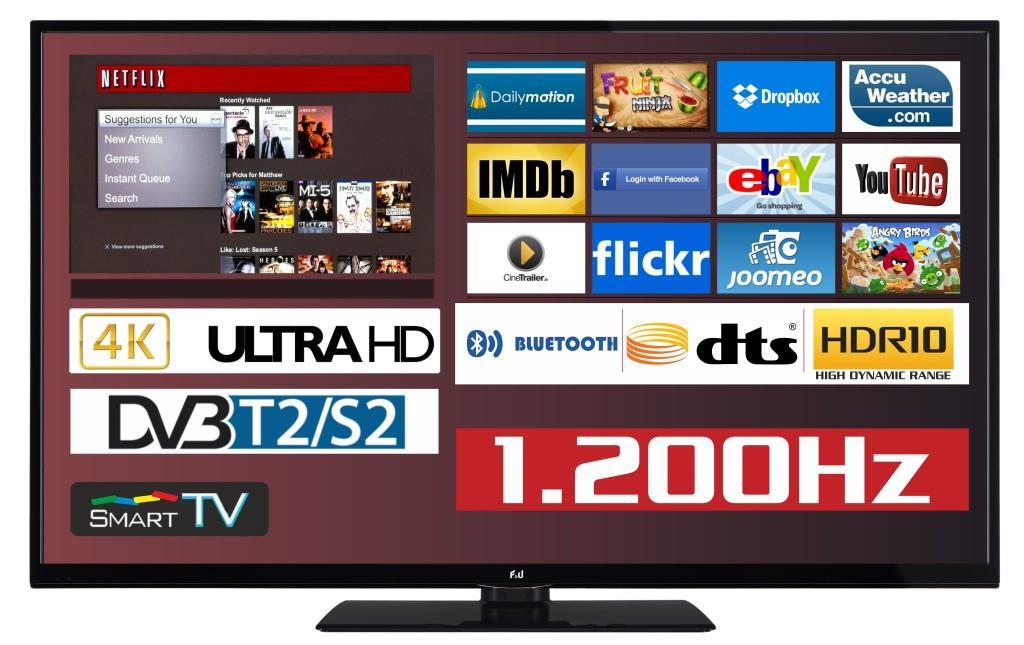 F&U FL2D5504UH 4K ULTRA HD Smart TV 55 ιντσών