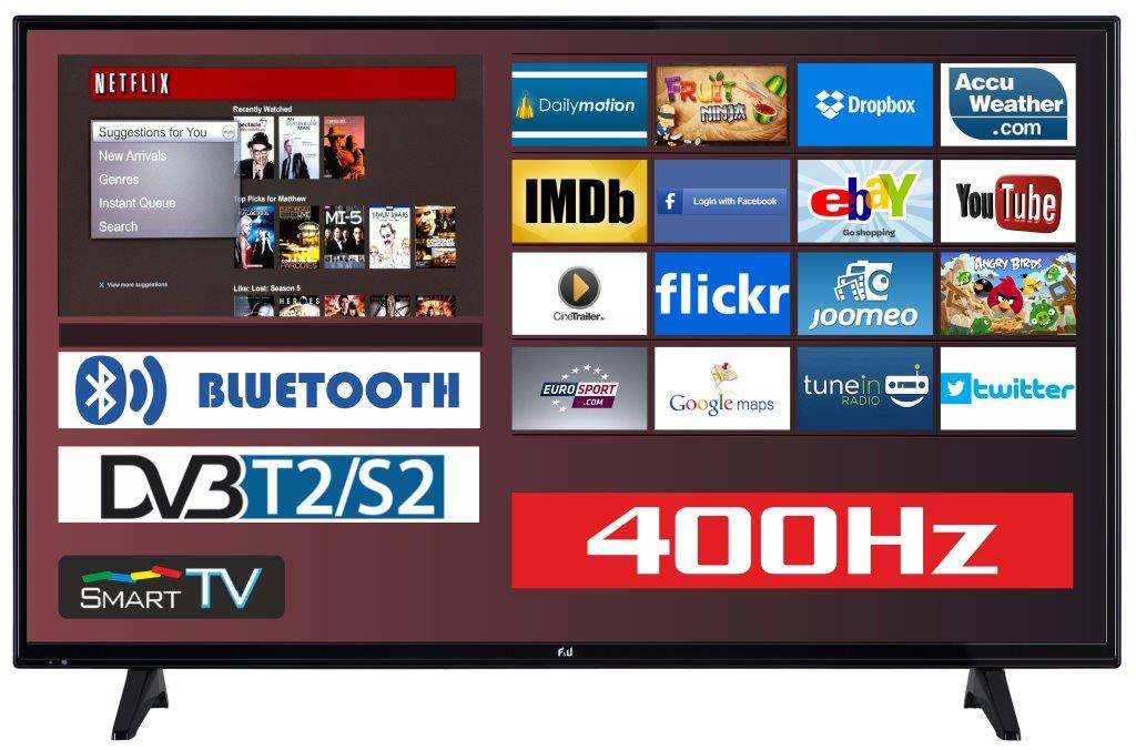 F&U FLS43204 Smart LED TV 43 ιντσών