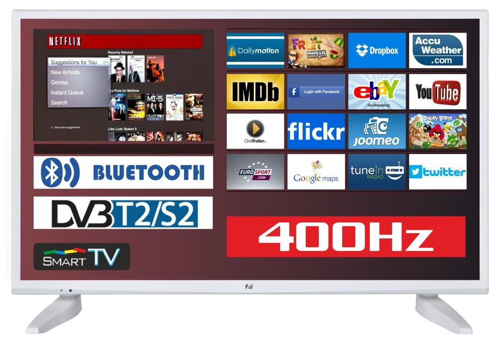 F&U FLS43285WH Smart LED TV 43 ιντσών