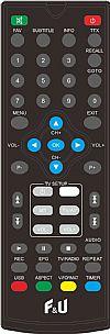 F&U MPF3472HU Δέκτης Ψηφιακής τηλεόρασης HD DVB-T2 με τηλεχειριστήριο 2 χρήσεων (Τηλεόραση και δέκτης)