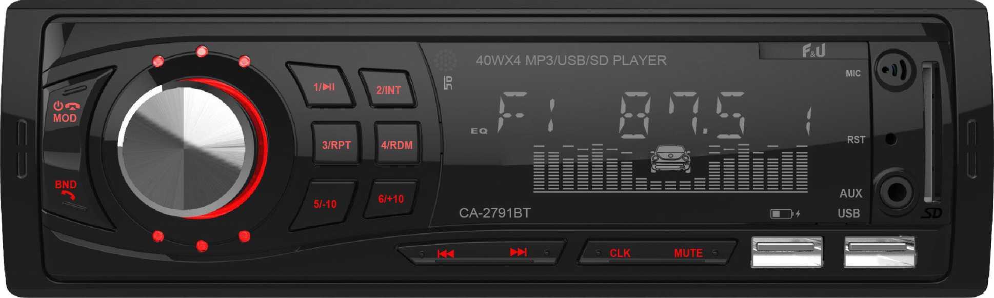 F&U CA-2791BT Ηχοσύστημα 1DIN με Bluetooth