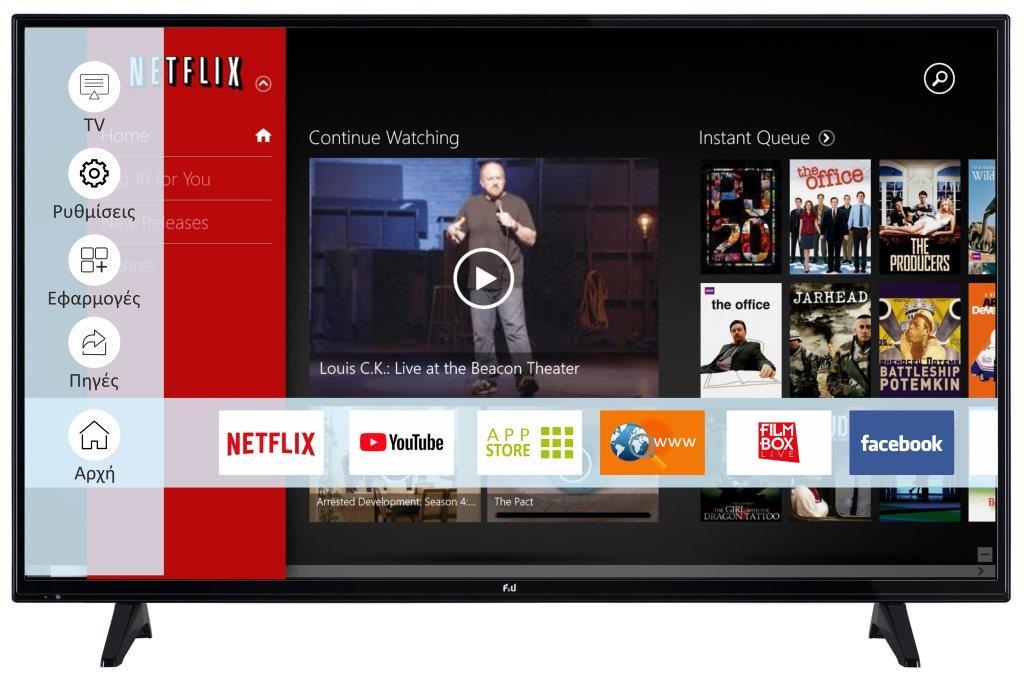 F&U FLS49201 Smart LED TV 49ιντσών
