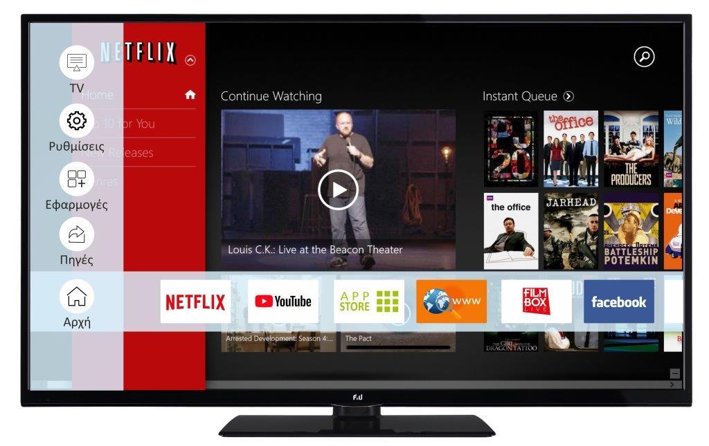 F&U FL2D4903UH 4K ULTRA HD Smart TV 49 ιντσών