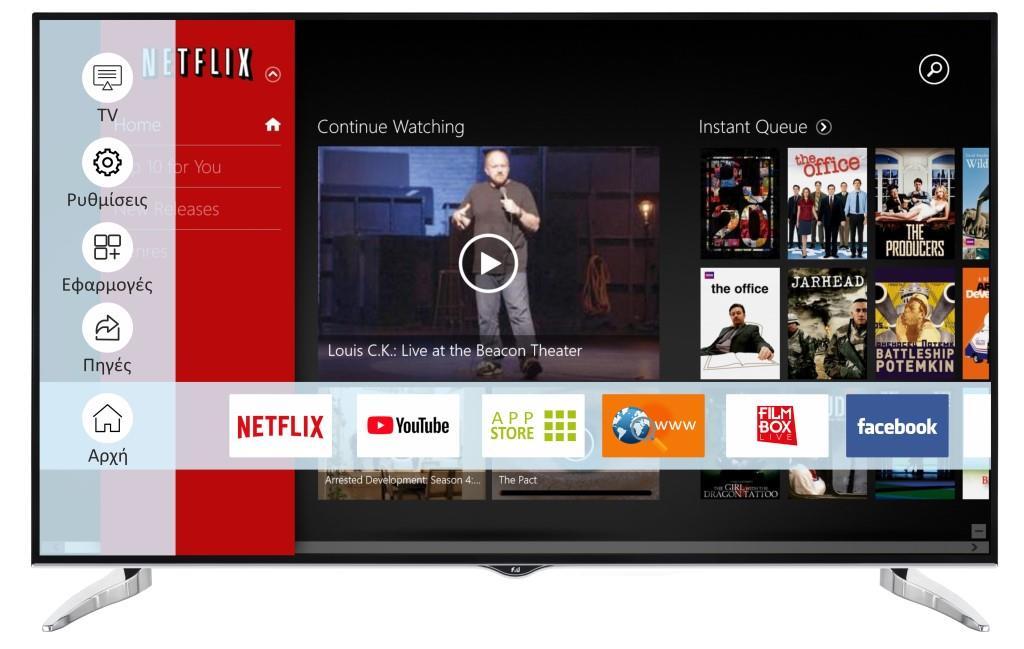 F&U FL2D6504UH 4K ULTRA HD Smart TV 65 ιντσών