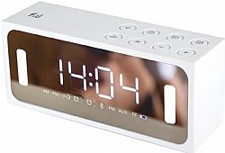 F&U PBT2128W Φορητό Ραδιόφωνο/Ξυπνητήρι & Media Player με Bluetooth