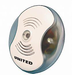 UNITED IR-2528 Ηλεκτρονικό απωθητικό εντόμων με υπερήχους & φως νυκτός