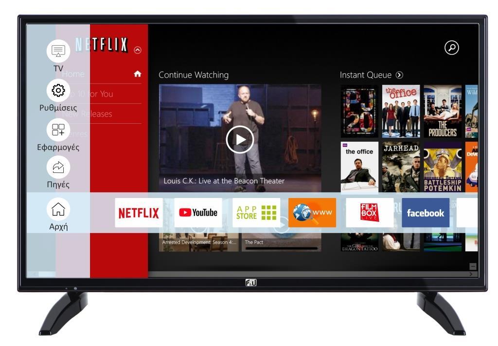 F&U FLS32218 SMART LED TV 32 ιντσών