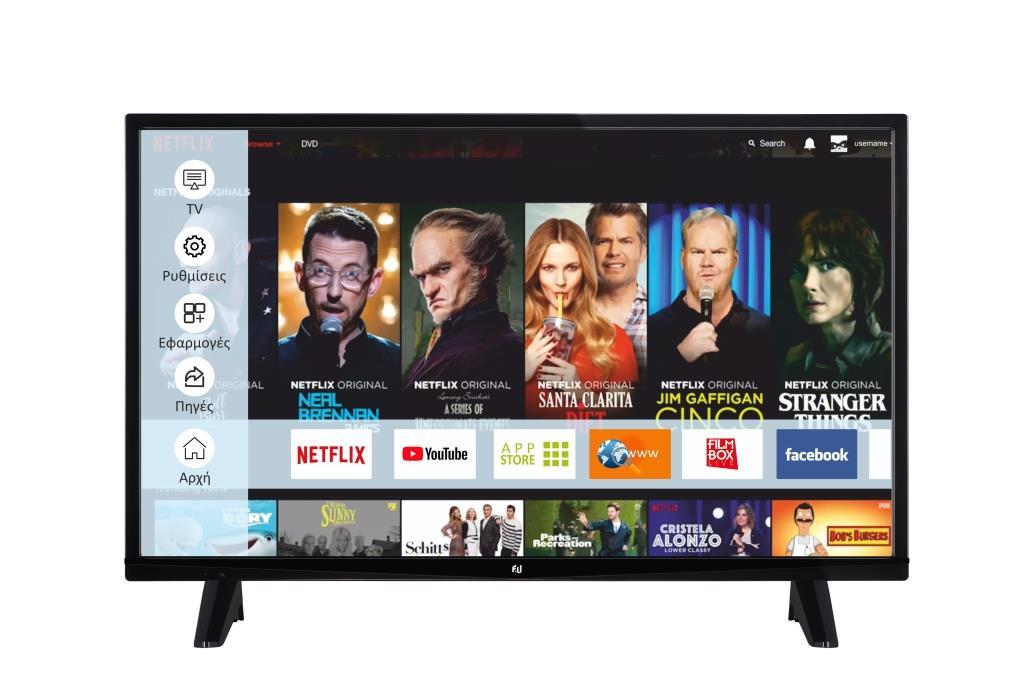F&U FLS39202 Smart LED TV 39ιντσών