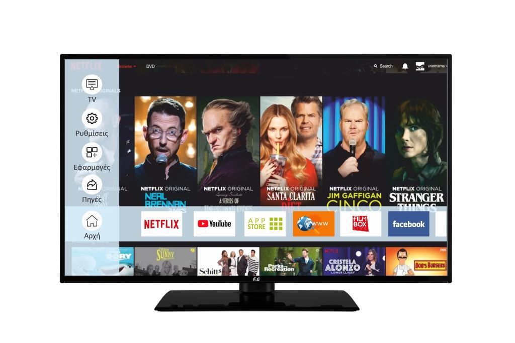 F&U FL2D5006UH 4K ULTRA HD Smart TV 50 ιντσών
