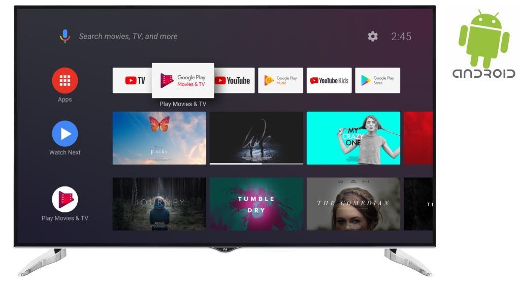 F&U FLA7520UH 4K ULTRA HD Android TV 75 ιντσών