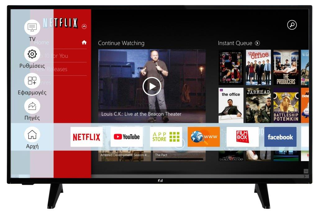 F&U FLS43207 Smart LED TV 43 ιντσών