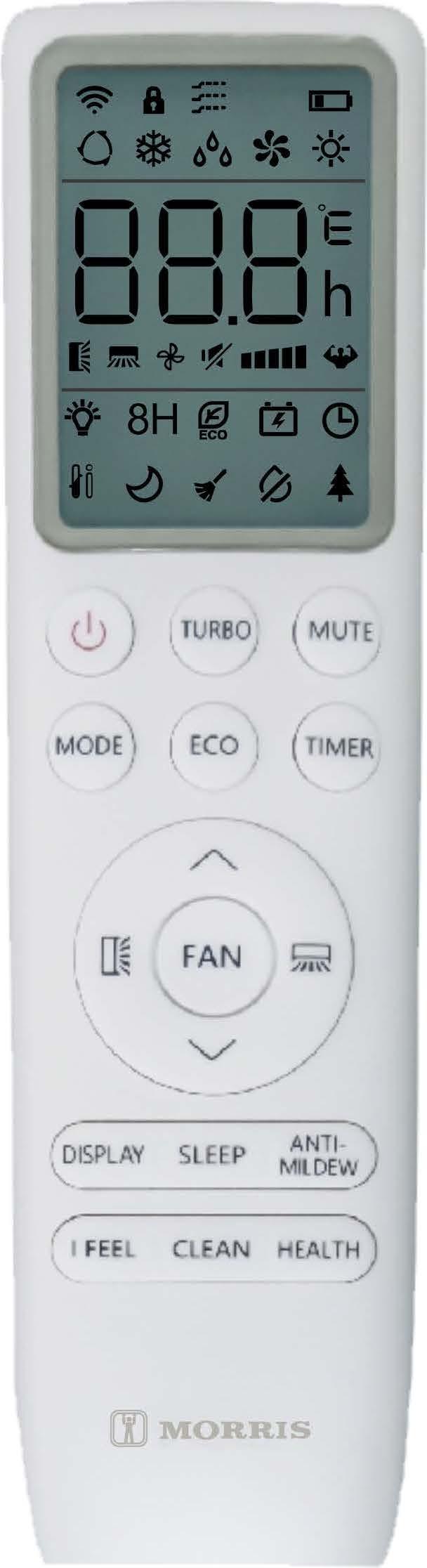 MORRIS WFIN-26152 ΚΛΙΜΑΤΙΣΤΙΚΟ Smart WiFi INVERTER 9000BTU