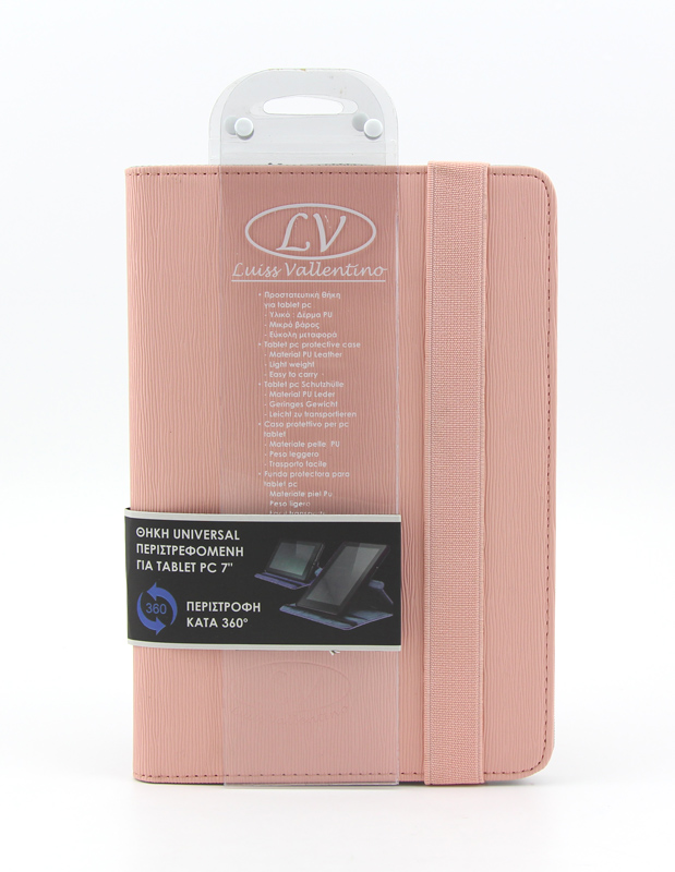 TBC3832 Universal Θήκη για Tablet PC 7 ιντσών (Ροζ χρώμα)