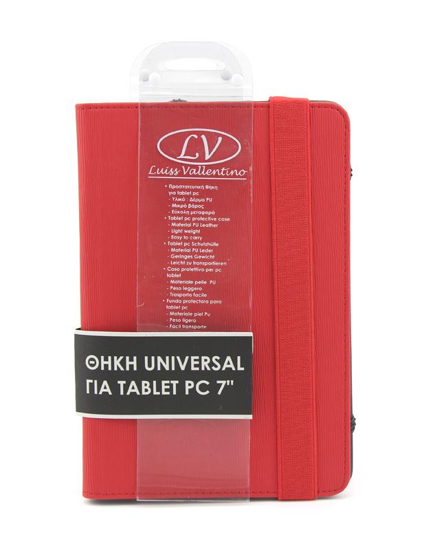 TBC3821 Universal Θήκη για Tablet PC 7 ιντσών (Κόκκινο χρώμα)